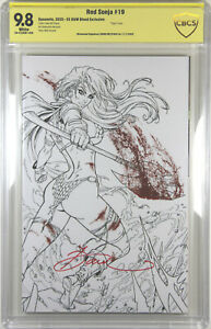 RED SONJA #19 (DAWN MCTEIGUE VARIANT) ~ CBCS SIGNATURE SERIES SS GRADED 9.8 NM/M