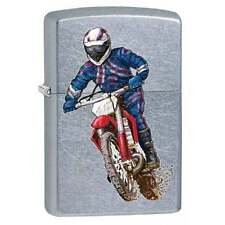 Zippo Lighter Dirt Bike & Rider Street Chrome