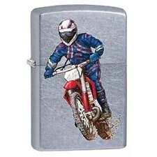 Zippo Lighter Dirt Bike & Rider Street Chrome