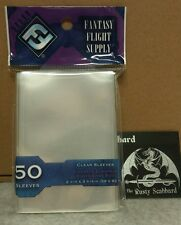 59mm x 92mm Standard European Board Game CLEAR  Card Sleeves  Purple Pk FFG04