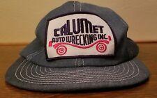 vintage calumet auto wrecker denim hat