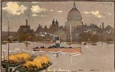 London St Pauls Cathedral by Purkis pc used 1903 Hildesheimer