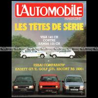 L'AUTOMOBILE N°444 VW GOLF GTi TALBOT SAMBA RALLYE FORD ESCORT RS 1600 i 1983