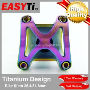 "Colorful Titanium Ti Stem 25.4/31.8mm/1 1/8""-For Road&Mountain Bike/XC/MTB/FR/DH"