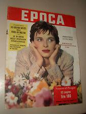 EPOCA=1952/79=LUCIA BOSE=GRASSINA ORIANA FALLACI=CAVALIERI MALTA=FIERA DI MILANO
