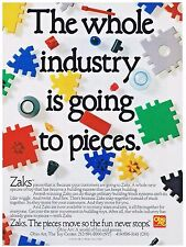 ZAKS OHIO ART THE PIECES THAT MOVE SO THE FUN NEVER STOPS   1989 TOY FAIR AD