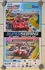 Super Sebring 2019 IMSA 12 Hours / WEC 1000 miles of Sebring event poster