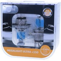 H4 GE Lighting Megalight Ultra 150% mehr Licht 50440NXNU Maximale Leistung NEU