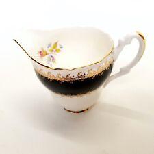 Majestic Milk Cream Jug JAS. I. TAYLOR Fine Bone Chine, Black & Gold - Beautiful