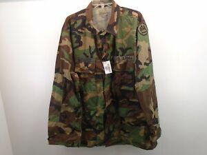 USGI US Army BDU Coat Shirt Hot Weather X-Large Long 2002 Louisiana Schmidt 64-E