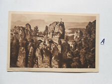 Postkarte Ansichtskarte Sachsen.Basteibrücke Sächs.Schweiz.