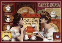 Coffee Time Ladies Blechschild Schild gewölbt Metal Tin Sign 20 x 30 cm