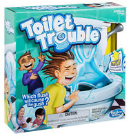 Toilet Trouble Game Bathroom Bowl Flushing Sounds Sprays Water Hasbro Board Game