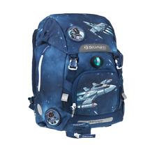Beckmann of Norway School Backpack, patterned (Blue) - Space