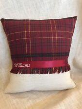 'Williams' Welsh Tartan Cushion Wedding Anniversary Birthday Christmas Gift