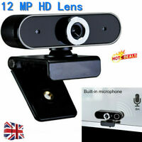 For PC Laptop Computer USB 12 Megapixel HD Webcam Web Cam Camera Microphone Mic