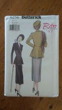 Butterick Retro 1947 Pattern #6256, Misses' Petite jacket & Skirt Sz 12-14-16