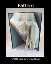 Book Folding PATTERN to create your own folded book art ~ Elephant