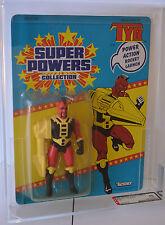 """TYR - SUPER POWERS - 1986 KENNER 5"""" FIGURE - MOC 33 BACK- AFA 85 Y C85 B85 F90"""