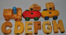 Mini Mix N' Match 30 piece Magnetic Alphabet tractor & cars with train cargo