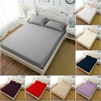 30CM DEEP FITTED SHEET EGYPTIAN COTTON 200TC SINGLE SMALL DOUBLE KING SUPER KING