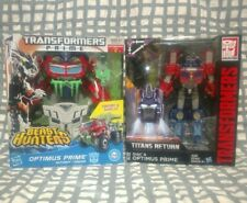 Transformers Prime Beast Hunters Optimus Prime w/ Diac Titans Return Lot G1 WFC