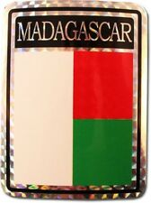 Wholesale Lot 12 Madagascar Country Flag Reflective Decal Bumper Sticker