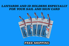 3 NORWEGIAN CRUISE LINES I.D. HOLDERS & LANYARDS ZIP L0CK SEALS CLEAR BOTH SIDES