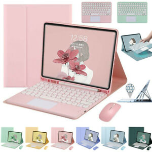 """Bluetooth Keyboard Touchpad Mouse Case Cover For iPad 5/6/7/8th Air Pro 11"""" 2021"""