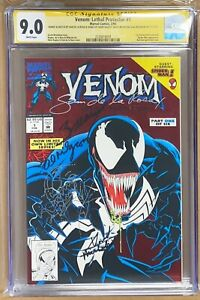 VENOM LETHAL PROTECTOR 1 SS CGC 9.0 SINGD BY ALL WITH SKETCH CLEAN PRESS FOR 9.8
