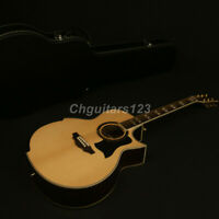Handmade 42In Jumbo Cutway limited Edition Electric Acoustic Guitar Solid Top