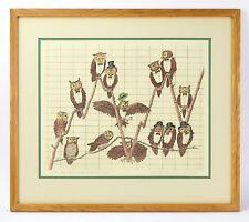 """De Owl Jones Industrial Average"" L/E Surrealist Lithograph Curt Frankenstein"