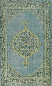 Traditional Oushak Oriental Area Rug Hand-knotted Medallion 6x9 Geometric Carpet