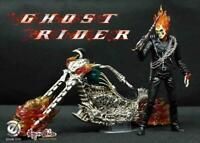 Ghost Rider Johnny Blaze with Cycle 1/9 Scale Figure with LED Lights Marvel 14