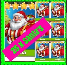 25 x Santa's Coin Master  Cards (fast Delivery)