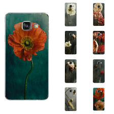 For Samsung Galaxy Note A5 A7 2016 Case Soft TPU Phone Back Cover Flowers Skins
