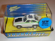 Johnny Lightning T-Jet Slot Car Ho Scale Tuff Ones Chevy Vega Pro Stock #3 Wht