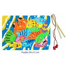 NEW Wooden Magnetic Fishing Game