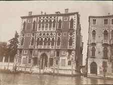 Italie, Venise. Ca'Rezzonico, Palais Grassi, 1904 vintage citrate print. Italy.