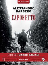Audiolibro audiobook cd MP3  CAPORETTO - ALESSANDRO BARBERO  usato