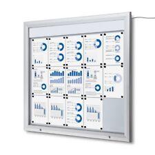 Schaukasten T LED Beleuchtet 15x A4 für außen mit Textleiste Querformat