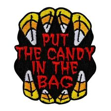 "Kids Halloween Patch ""Put The Candy In The Bag"" Trick or Treat Iron-On Applique"