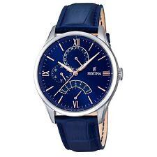 Festina F16823-3 Men's Blue Leather Wristwatch