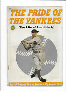 PRIDE OF THE YANKEES [1949 VG+] THE LIFE OF LOU GEHRIG