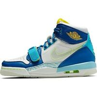 NIKE AIR JORDAN LEGACY 312 Size 6.5Y 'JUST FLY' TWO TONED BLUE SHOES CI4446-400