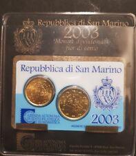 San Marino 2003 Minikit  - 20 und 50 Cent