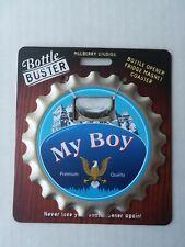 BOTTLE BUSTER BROTHER~COASTER~FRIDGE MAGNET~BOTTLE OPENER~NEW~FREE US SHIP~