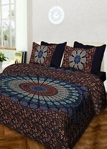 indian mandala print king size duvet cover comforter set bedding set quilt cover