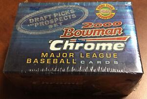 2000 Bowman Chrome Baseball Draft Picks and Prospects Factory Sealed Set (Qty)