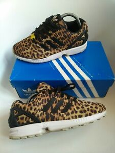 Adidas zx flux women's Trainers Size 5.5 running gym walking leopard UNIQUE